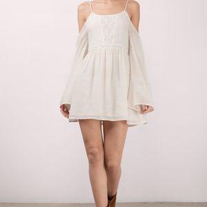 BRAND NEW Tobi Cream cold shoulder skater dress